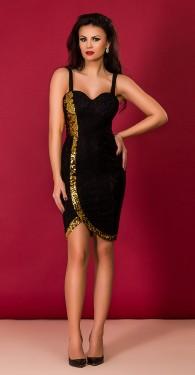 rochie-de-seara-neagra-auriu